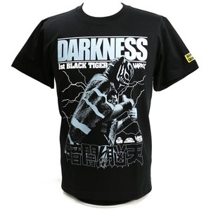 新日本プロレス NJPW ブラック・タイガー(暗闇脳天ブラック) Tシャツ Hardcore Chocolate/ハードコアチョコレート bdrop
