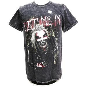 Tシャツ WWE Bray Wyatt(ブレイ・ワイアット) Let Me In ミネラルウォシュ加工ブラック|bdrop
