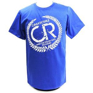 Tシャツ XXLサイズ:DRAGON GATE/AEW CIMA(シーマ) ロイヤルブルー|bdrop