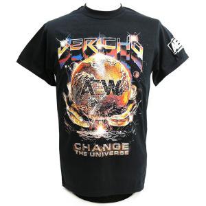 Tシャツ XXLサイズ:AEW Chris Jericho(クリス・ジェリコ) Change The Universe ブラック|bdrop