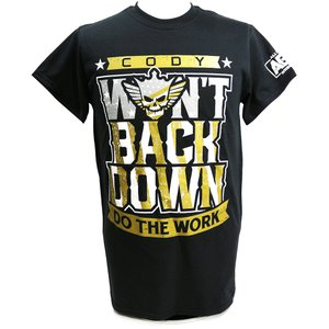 XXLサイズ:AEW Cody(コーディ) Won't Back Down ブラックTシャツ|bdrop
