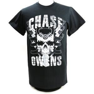 【BD SALE!!! 2,000円Tシャツ】Tシャツ 新日本プロレス NJPW Chase Owens(チェーズ・オーエンズ) Chase Skull ブラック|bdrop