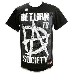 Tシャツ WWE Dean Ambrose (ディーン・アンブローズ) Return to Society ブラック|bdrop