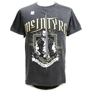Tシャツ XXLサイズ:WWE Drew McIntyre(ドリュー・マッキンタイア) Claymore Country チャコール|bdrop