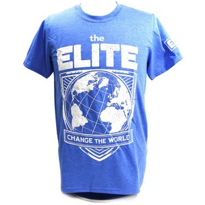 XXLサイズ:The Elite Change The World Exclusive チャコールブルーTシャツ|bdrop