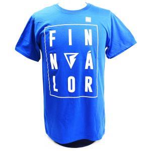 WWE Finn Balor (フィン・ベイラー/フィン・バロール) Balor ブルーTシャツ bdrop