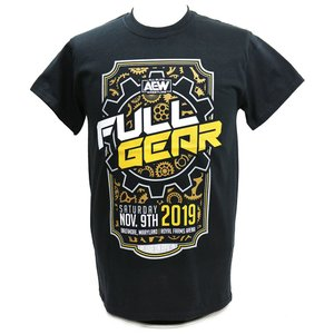 Tシャツ XXLサイズ:AEW Full Gear Marquee Design ブラック|bdrop