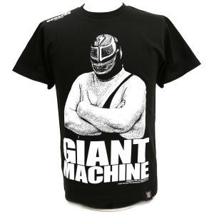メール便対応: クリアランスセール: WWE ジャイアント・マシーン×コラソン ブラックTシャツ bdrop