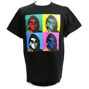 Tシャツ The Great Muta(ザ・グレート・ムタ) TWOPLATOONS × グレートムタ FACES ブラック bdrop
