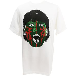 Tシャツ The Great Muta(ザ・グレート・ムタ) 緑ペイント ホワイト|bdrop
