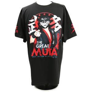 Tシャツ The Great Muta(ザ・グレート・ムタ) 白黒ペイント ブラック bdrop
