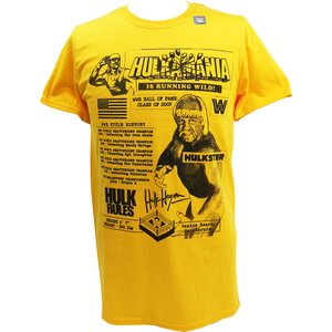 Tシャツ XXLサイズ:WWE Hulk Hogan(ハルク・ホーガン) Fanzine Graphic イエロー|bdrop