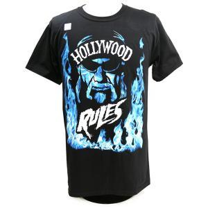 Tシャツ WWE Hulk Hogan(ハルク・ホーガン) Hollywood Rules ブラック|bdrop