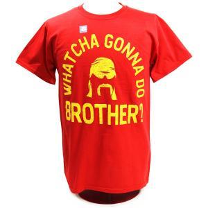 Tシャツ XXLサイズ:WWE Hulk Hogan(ハルク・ホーガン) Whatcha Gonna Do Brother レッド|bdrop