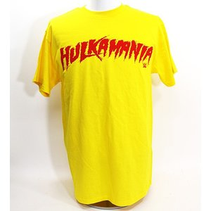 WWE Hulk Hogan(ハルク・ホーガン) Yellow Hulkamania Tシャツ|bdrop