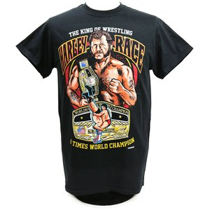 Tシャツ XXLサイズ:WWE Harley Race(ハーリー・レイス) The King of Wrestling ブラック|bdrop