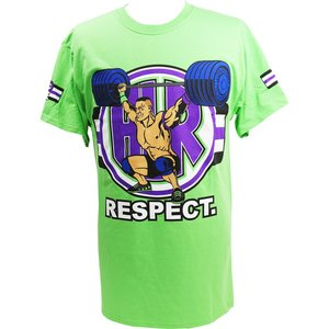 Tシャツ WWE John Cena (ジョン・シナ) Cenation Respect ライトグリーン|bdrop