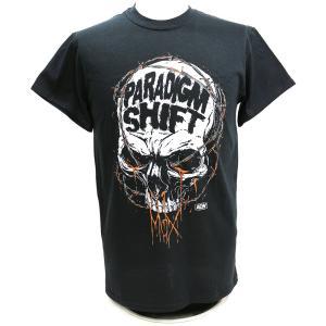 Tシャツ AEW Jon Moxley(ジョン・モクスリー) Paradigm Shift ブラック bdrop
