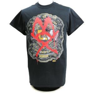 Tシャツ AEW Jon Moxley(ジョン・モクスリー) Champ ブラック|bdrop