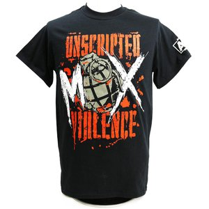 Tシャツ AEW Jon Moxley(ジョン・モクスリー) Unscripted Violence ブラック|bdrop