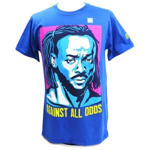 XXLサイズ:WWE Kofi Kingston(コフィ・キングストン) Against All Odds Authentic ブルーTシャツ|bdrop