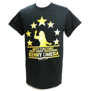 【BD SALE!!! 2,160円Tシャツ】XXLサイズ:ケニー・オメガ 7 Stars ブラックTシャツ|bdrop