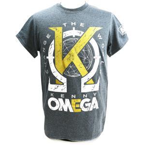 Tシャツ AEW Kenny Omega(ケニー・オメガ) Golden K チャコール|bdrop