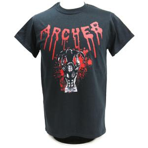 Tシャツ XXLサイズ:AEW Lance Archer(ランス・アーチャー) Blackout blood drip ブラック|bdrop