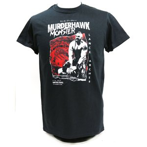 Tシャツ AEW Lance Archer(ランス・アーチャー) THE MURDERHAWK MONSTER ブラック bdrop