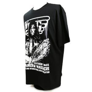 Tシャツ W★ing レザーフェイス ブラック bdrop 03