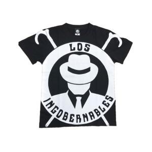 Tシャツ 新日本プロレス NJPW ロス・インゴベルナブレス・デ・ハポン L・I・J オールプリント(ブラック×ホワイト) bdrop