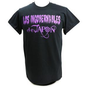 Tシャツ XXLサイズ/US版:新日本プロレス NJPW ロス・インゴベルナブレス・デ・ハポン Purple ブラック|bdrop