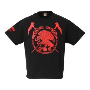 Tシャツ3L/4Lサイズ:新日本プロレス NJPW ロス・インゴベルナブレス・デ・ハポン L・I・J×AGUILA(レッド)|bdrop