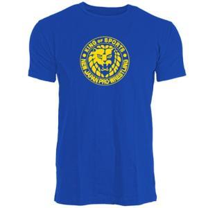 新日本プロレス NJPW ライオンマーク Tシャツ(ブルー×イエロー) bdrop