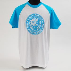 Tシャツ 新日本プロレス NJPW ライオンマーク(ライトブルー)|bdrop