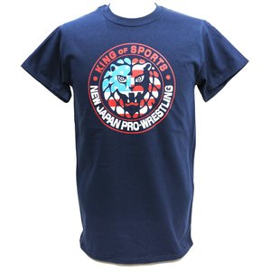 Tシャツ US版:新日本プロレス NJPW ライオンマーク USA ネイビー|bdrop