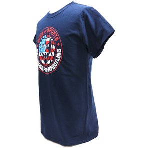 Tシャツ XXLサイズ/US版:新日本プロレス NJPW ライオンマーク USA ネイビー|bdrop|03