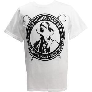 Tシャツ 新日本プロレス/NJPW 内藤哲也 ロス・インゴベルナブレス ホワイト|bdrop