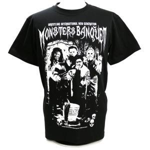 Tシャツ W★ing モンスターズ・バンクェット ブラック|bdrop