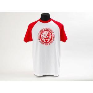 XXLサイズ:新日本プロレス NJPW ライオンマーク キング・オブ・スポーツ クラシックTシャツ bdrop
