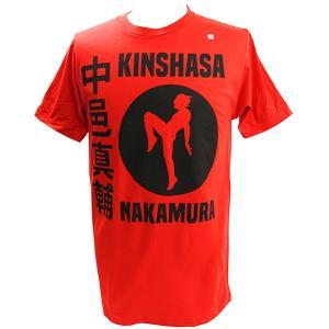 WWE Shinsuke Nakamura (中邑真輔) BOMAYE レッドTシャツ|bdrop