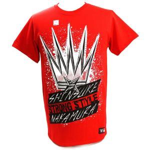 WWE Shinsuke Nakamura (中邑真輔) King of Strong Style レッドTシャツ|bdrop