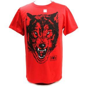 Tシャツ XXLサイズ:WWE/WCW nWw Wolfpac Wolf レッド|bdrop