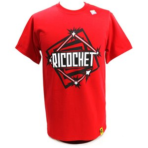 Tシャツ XXLサイズ:WWE Ricochet(リコシェ) NXT レッド|bdrop