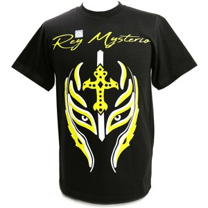 Tシャツ WWE Rey Mysterio(レイ・ミステリオ) Greatest Mask of All Time ブラック|bdrop