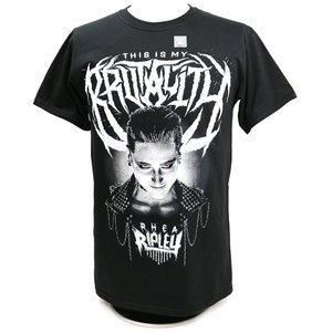 Tシャツ WWE Rhea Ripley(リア・リプリー) This Is My Brutality ブラック|bdrop