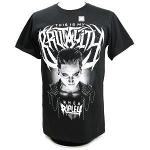 Tシャツ XXLサイズ:WWE Rhea Ripley(リア・リプリー) This Is My Brutality ブラック|bdrop