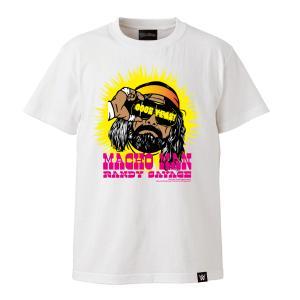 メール便対応: WWE TWOPLATOONS × ランディサベージ コラボレーション Tシャツ (ホワイト) bdrop