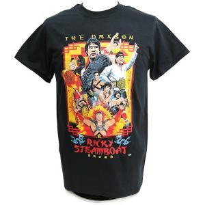 Tシャツ XXLサイズ:WWE Ricky Steamboat(リッキー・スティムボート) Enter The Dragon ブラック|bdrop