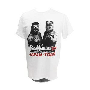 Tシャツ XXLサイズ:WWE Road Warriors(ロード・ウォリアーズ) 87 ホワイト|bdrop